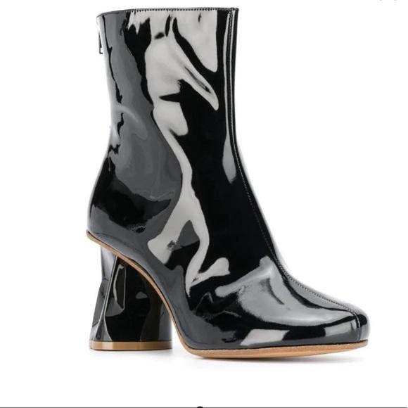 SOLD Maison Margiela block heel boots black